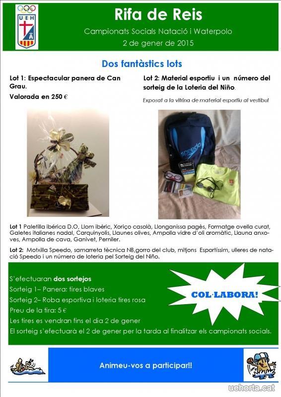 6d77019ee2 Ja es troben a la venda els números per participar a la RIFA DE REIS